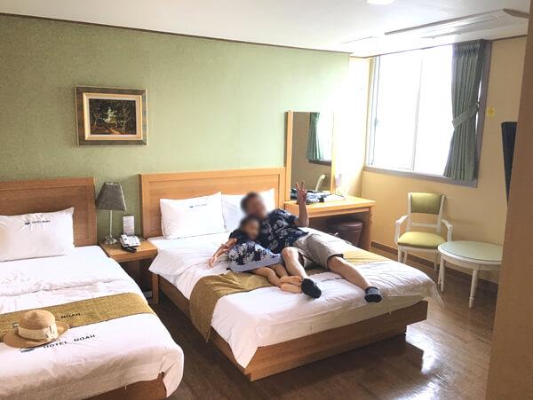 ホテルノアベッドルーム