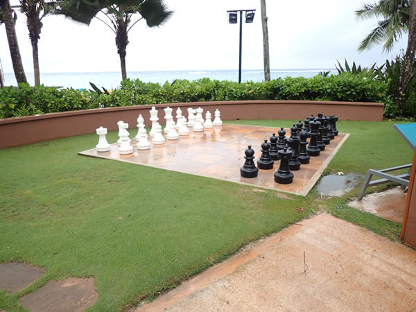 アウトリガーグアムの巨大チェス