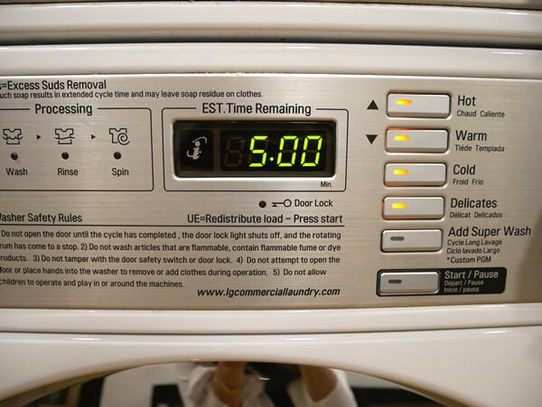 アウトリガーグアム 洗濯機