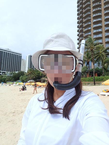 タモンビーチでシュノーケリング