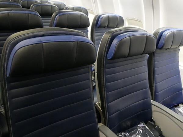 ユナイテッド航空の3シート
