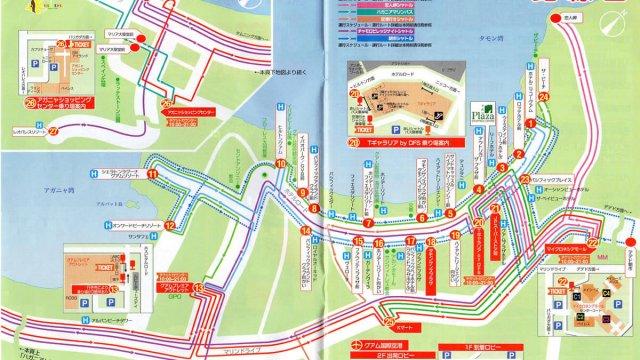 赤いシャトルバス 路線図