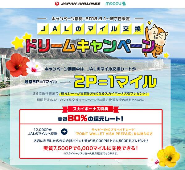 JAL×モッピーキャンペーン