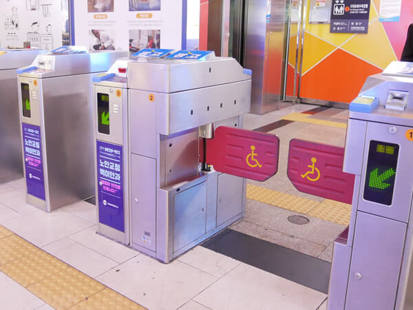 釜山地下鉄改札