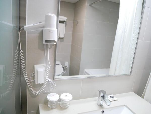 アベンツリーホテル釜山 洗面所