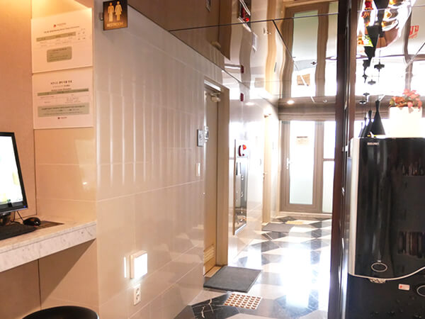 アベンツリーホテル釜山 ロビーのお手洗い