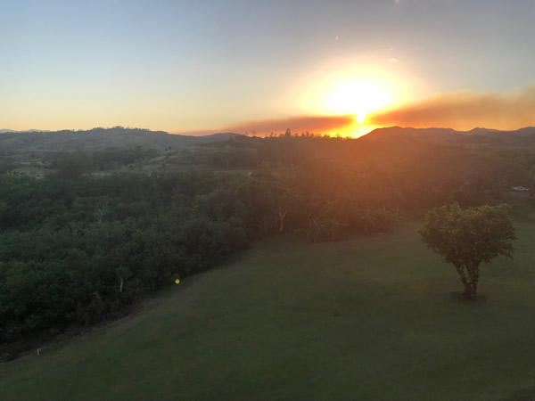 レオパレスリゾートグアムの夕陽