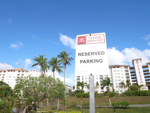 レオパレスリゾートグアム トヨタレンタカー駐車スペース