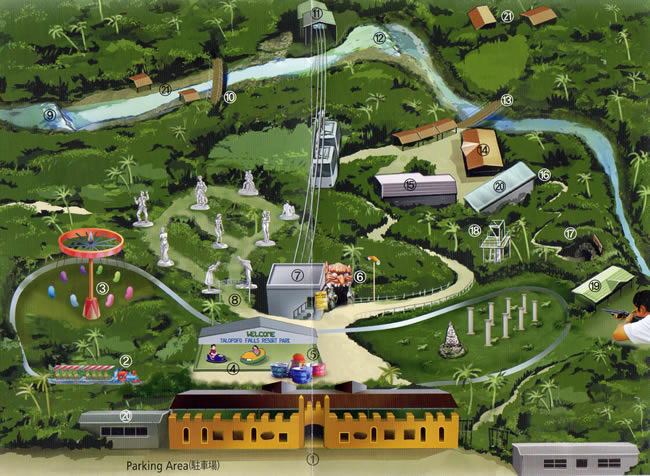 タロフォフォの滝公園 園内マップ