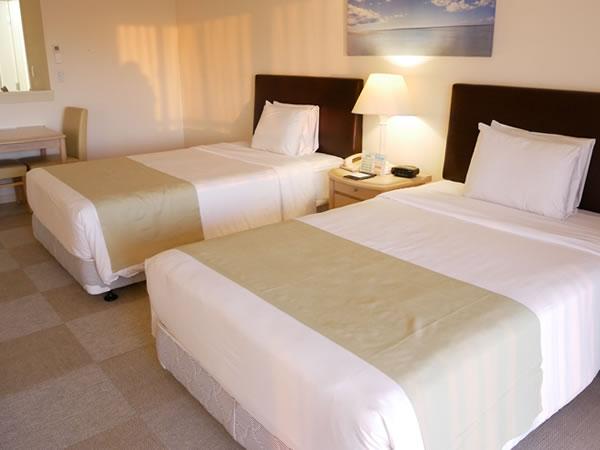 レオパレスリゾートグアム ツインルームベッド