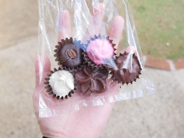チャモロビレッジのチョコレートショップ