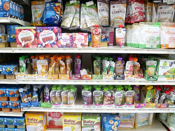 ペイレススーパーマーケットのベビーフード各種