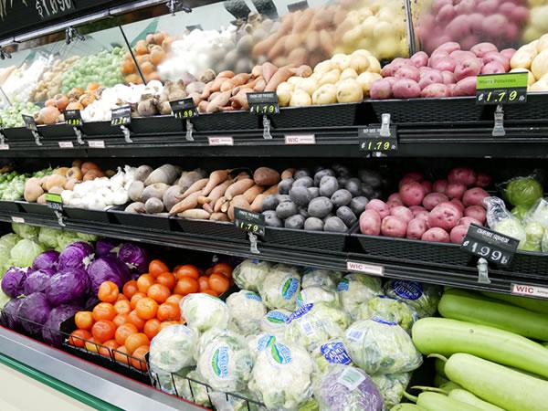 ペイレススーパーマーケットの生鮮野菜