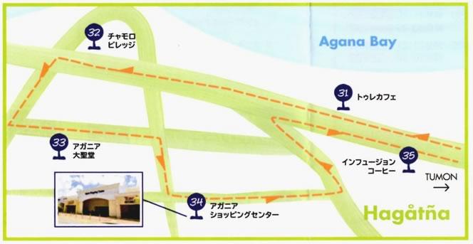 レアレアトロリーの路線図