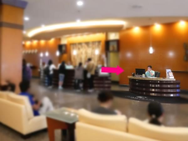 グアムプラザホテルのフロント