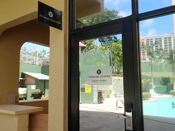 グアムプラザホテルのフィットネスジム