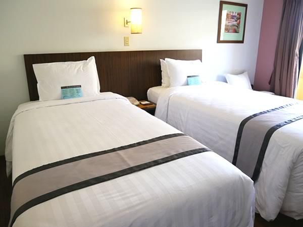 グアムプラザホテルのベッド