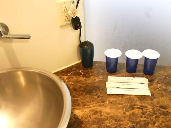 グアムプラザホテルの客室内洗面所