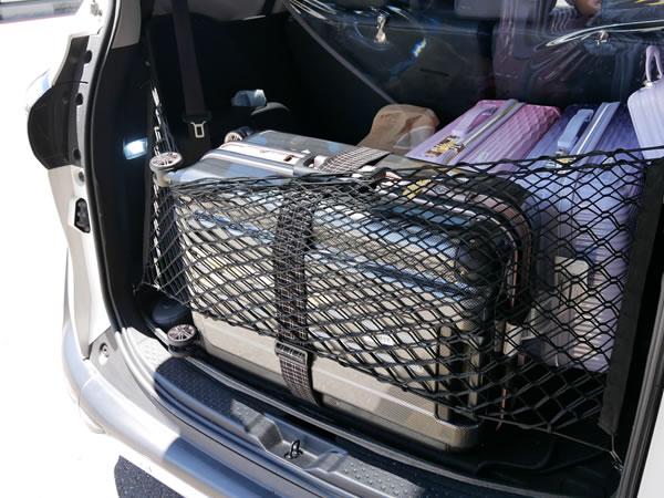 kkdayチャーター車に載せたスーツケース