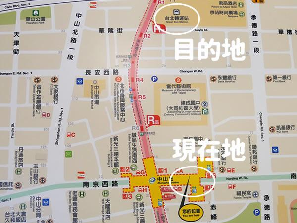 中山地下街地図