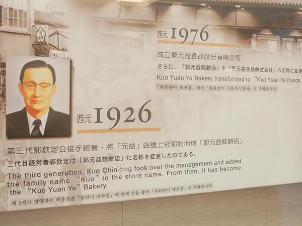 郭元益の歴史