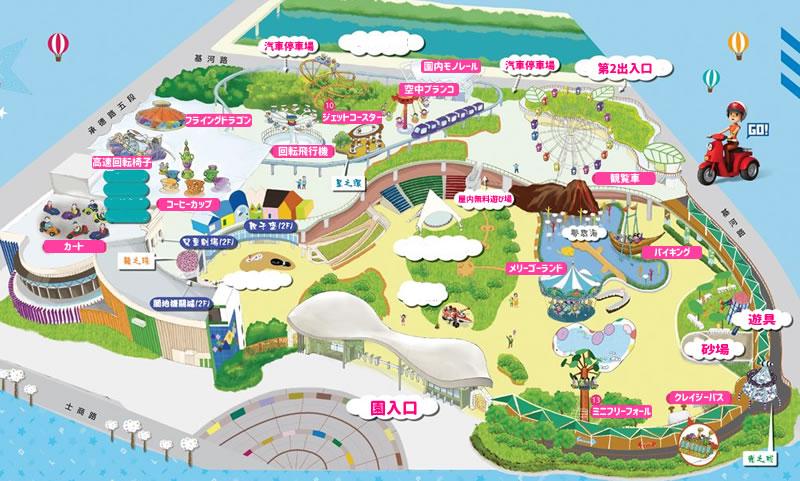 台北児童新楽園全体マップ(日本語訳)