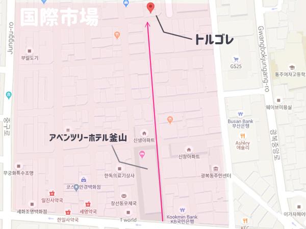 トルゴレの地図